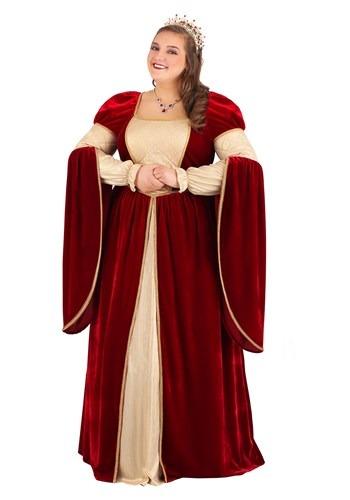 Fantasia Rainha Renascença para Adultos Plus Size – Women's Regal Renaissance Queen Plus Size Costume