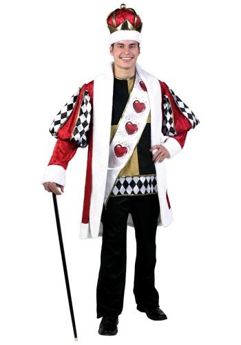 Fantasia Rei de Copas Plus SIze – Plus Size Deluxe King of Hearts Costume