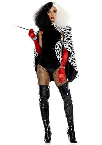 Fantasia Sexy Plus  Cruela para mulheres – Sexy Plus De Vilish Costume for Women
