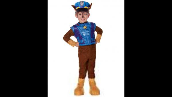 Fantasia Traje Deluxe Toddler Chase Patrulha Canina- Toddler Chase Costume Deluxe – PAW Patrol