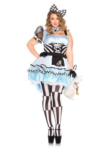 Fantasia de Alice no pais das Maravilhas sexy plus size- Plus Psychedelic Alice Costume
