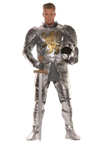 Fantasia de Cavaleiro de Armadura Brilhante Plus Size – Men's Plus Size Knight in Shining Armor Costume