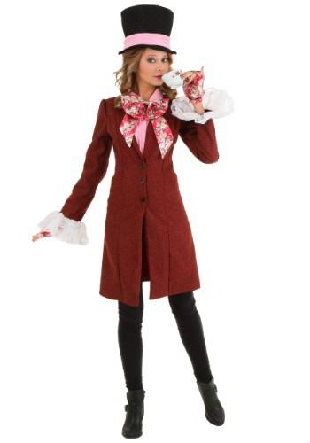 Fantasia de Chapeleiro Maluco Deluxe Plus Size feminino – Deluxe Plus Size Women's Mad Hatter Costume