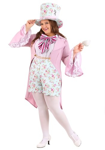 Fantasia de Chapeleiro Maluco Feminino – Plus Size Women's Pretty Mad Hatter Costume