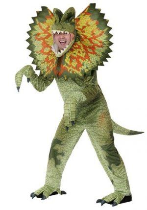 Fantasia de Dilophosaurus plus size para adultos – Plus Size Dilophosaurus Costume for Adults