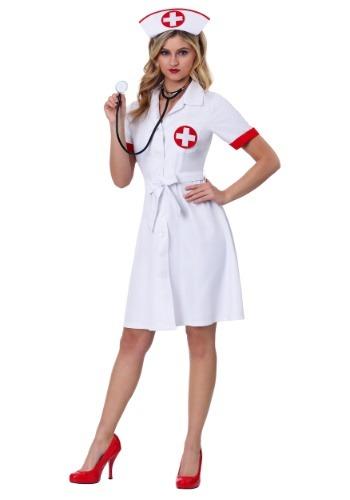 Fantasia de Enfermeira Plus Size  – Stitch Me Up Nurse Plus Size Womens Costume