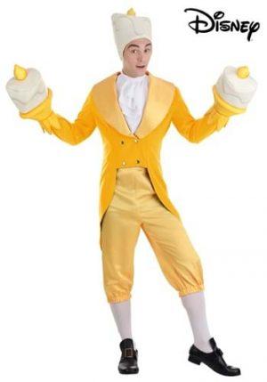 Fantasia de Luminária  para homens de A Bela e a Fera da Disney – Lumiere Costume for Men from Disney's Beauty and the Beast