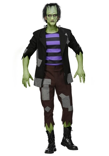 Fantasia de Monstro de Frankenstein masculino Plus Size – Men's Plus Size Frankenstein's Monster Costume