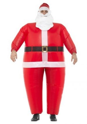 Fantasia de Papai Noel inflável para adultos – Inflatable Santa Costume for Adults