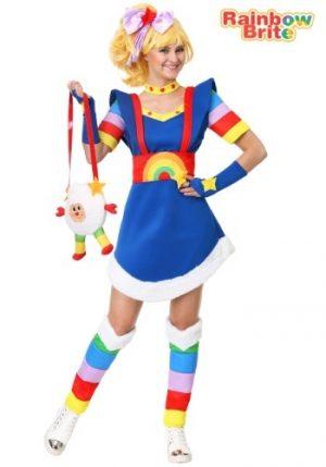 Fantasia de Rainbow Brite Adulto Plus Size – Rainbow Brite Adult Plus Size Costume