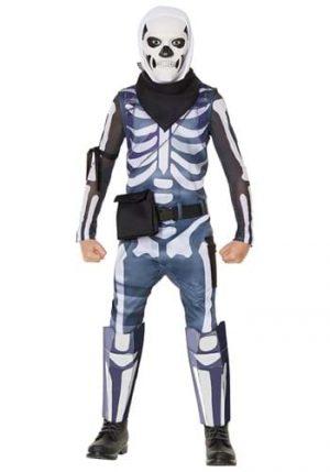 Fantasia de Soldado do Crânio infantil da Fortnite – Skull Trooper Costume from Fortnite for Kids