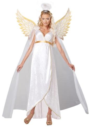 Fantasia de anjo da guarda adulto Plus Size – Plus Size Adult Guardian Angel Costume