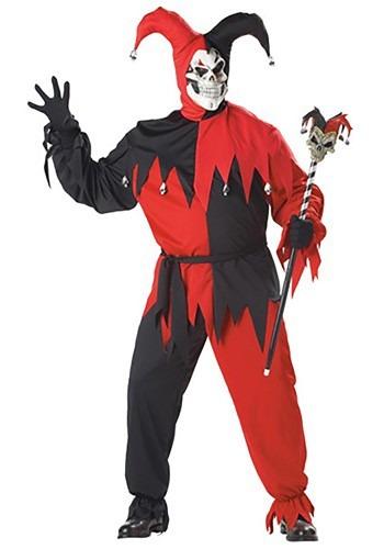 Fantasia de bobo do mal tamanho plus size – Plus Size Evil Jester Costume