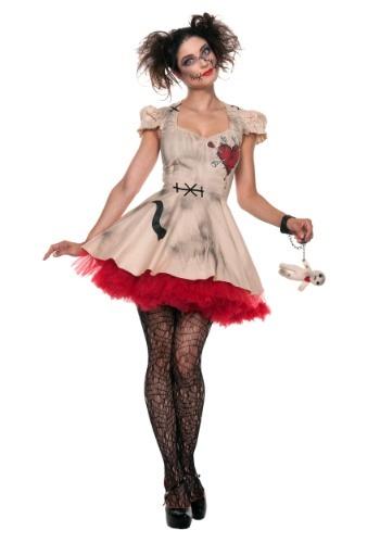 Fantasia de boneca vodu feminina tamanho plus – Womens Plus Size Voodoo Doll Costume