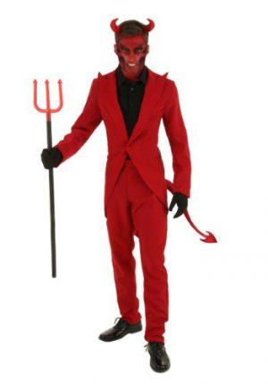 Fantasia de diabo de terno vermelho plus size – Plus Size Red Suit Devil Costume