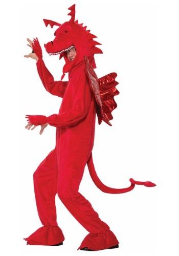 Fantasia de dragão vermelho adulto – Adult Red Dragon Costume