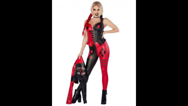 Fantasia de duas peças de Harley Quinn – Esquadrão Suicida – Harley Quinn Two-Piece Costume – The Suicide Squad