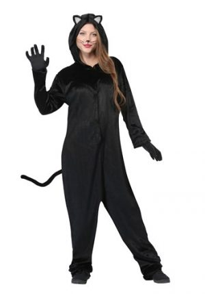 Fantasia de gato preto feminino tamanho Plus Size – Plus Size Women's Black Cat Costume
