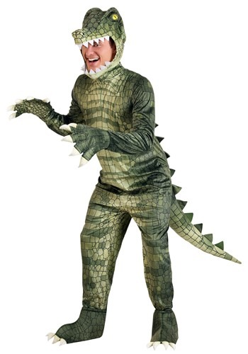 Fantasia de jacaré perigoso  plus size para adultos – Adult's Plus Size Dangerous Alligator Costume