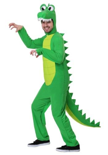 Fantasia de jacaré  tamanho plus size para adultos  – Plus Size Goofy Gator Costume for Adults