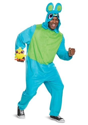Fantasia de macacão Toy Story Bunny coelho e Duck Pato – Toy Story Adult Bunny Jumpsuit Costume