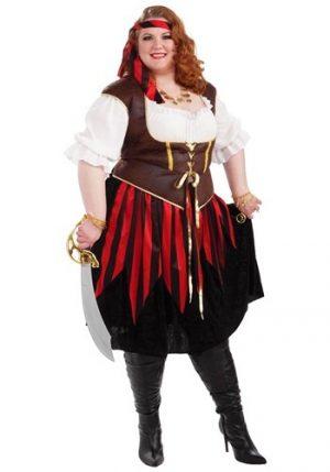 Fantasia de mulher pirata Plus Size – Plus Size Pirate Lady Costume
