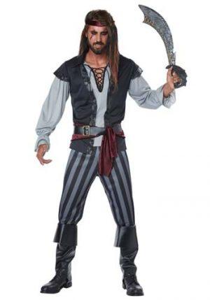 Fantasia de pirata Plus Size para homens – Scallywag Pirate Plus Size Costume for Men