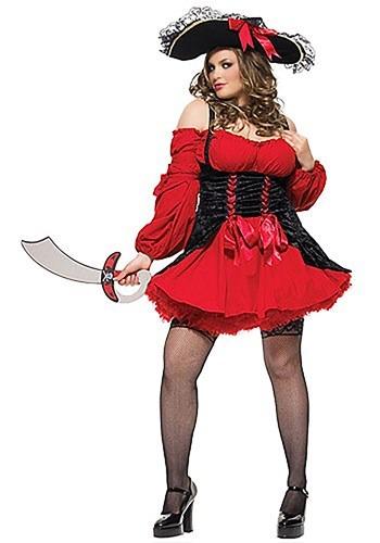 Fantasia de pirata sexy de tamanho plus size – Plus Size Sexy Vixen Pirate Costume