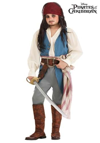 Fantasia do Capitão Jack Sparrow para crianças dos Piratas do Caribe da Disney – Captain Jack Sparrow Costume for Kids from Disney's Pirates of the Caribbean