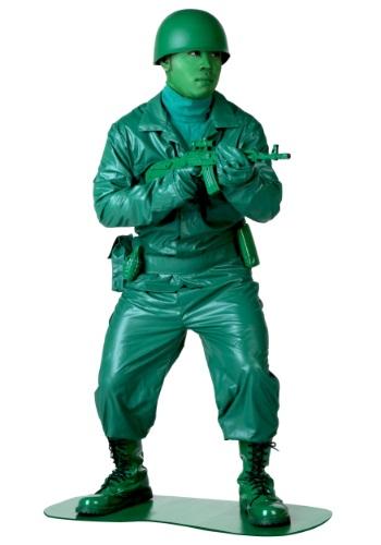 Fantasia do Exército Verde Plus Size – Plus Size Green Army Man Costume