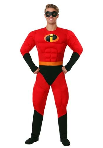 Fantasia do Sr. Incrível Deluxe  Plus Size – Mr. Incredible Deluxe Muscle Plus Size Costume