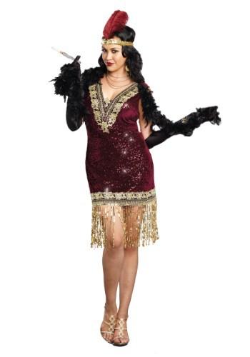 Fantasia elegante de Lady Flapper Plus Size – Plus Size Sophisticated Lady Flapper Dress Costume