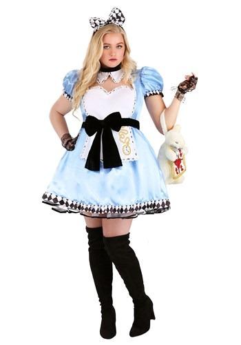 Fantasia feminina Sexy Alice no Pais das Maravilhas Pluz Size – Plus Size Women's Alluring Alice Costume