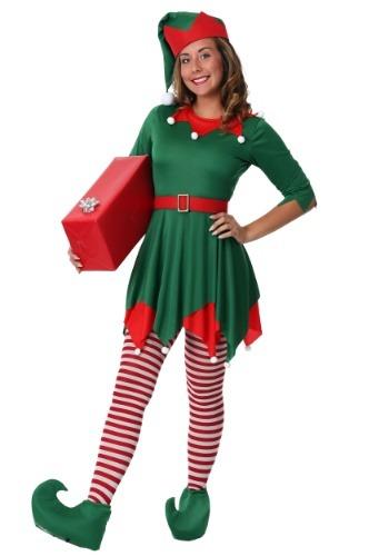 Fantasia feminina de Plus Size para o ajudante do Papai Noel – Women's Plus Size Santa's Helper Costume