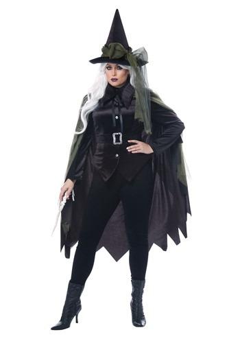 Fantasia feminina de bruxa gótica tamanho Plus SIze – Womens Plus Size Gothic Witch Costume