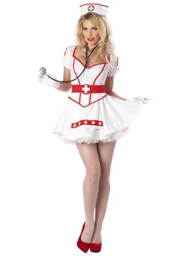 Fantasia feminina de enfermeira Sexy Plus SIze – Women's Plus Size Nurse Heartbreaker Costume