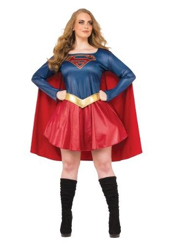 Fantasia feminina de supergirl  – Plus Size Women's Supergirl TV Costume