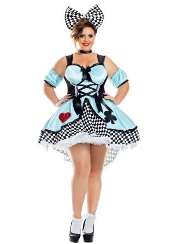 Fantasia feminina sedutora de Alice Plus Size – Flirtatious Alice Plus Size Womens Costume