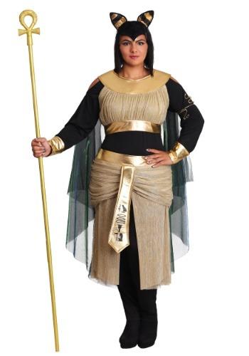 Fantasia feminino Bastet Plus Size de deusa – Women's Bastet Plus Size Goddess Costume