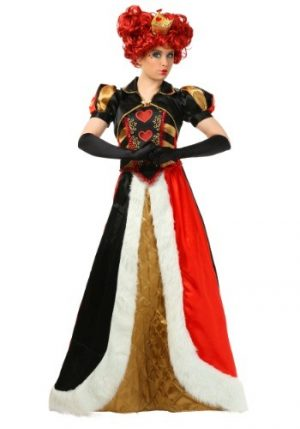 Fantasia  feminino Plus Size Rainha de Copas  – Women's Plus Size Elite Queen of Hearts Costume