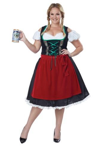 Fantasia feminino Plus Size da Oktoberfest Fraulein – Women's Plus Size Oktoberfest Fraulein Costume