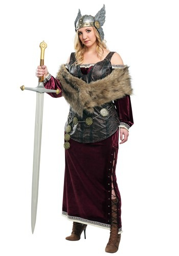 Fantasia  feminino da deusa viking Plus Size – Women's Plus Sized Viking Goddess Costume