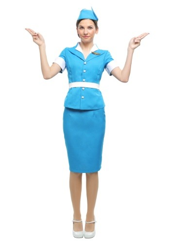 Fantasia  feminino de aeromoça plus size – Plus Size Flight Attendant Women's Costume