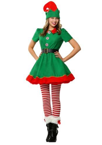 Fantasia feminino de elfo festivo tamanho plus size – Women's Holiday Elf Plus Size Costume