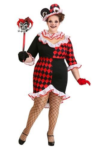 Fantasia feminino de haute arlequim plus size – Plus Size Women's Haute Harlequin Costume