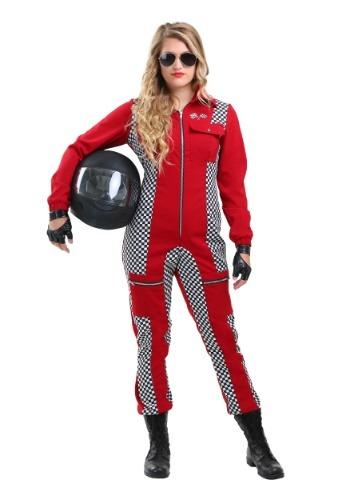 Fantasia feminino de macacão de corrida plus size – Racer Jumpsuit Plus Size Women's Costume