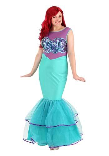 Fantasia feminino de sereia com concha Plus Size – Plus Size Shell-a-brate Mermaid Women's Costume