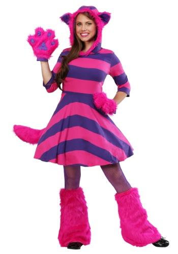 Fantasia feminino do gato cheshire plus size – Cheshire Cat Plus Size Women's Costume