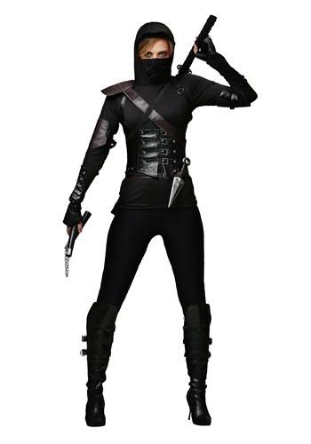 Fantasia feminino plus size Ninja assassino – Women's Plus Size Ninja Assassin Costume