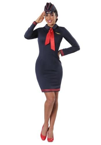 Fantasia feminino plus size de comissária de bordo – Women's Plus Size Workin' The Skies Flight Attendant Costume